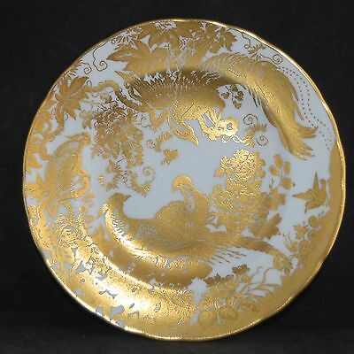 """1973 Royal Crown Derby GOLD AVES Salad Plate/Display Plate 21cm (~8.5"""") - VGC"""