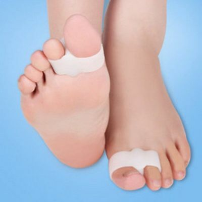 2PCS Silicone Gel Bunion Toe Separator Corrector Hallux Valgus Guard Foot Care