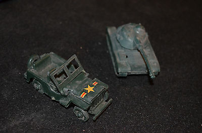 Tres Rare Jeep Et Tank No Dinky Made In France