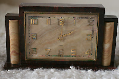 Omega Marble Mantel Clock Extremely Rare and Full Working order watch Calibre 59