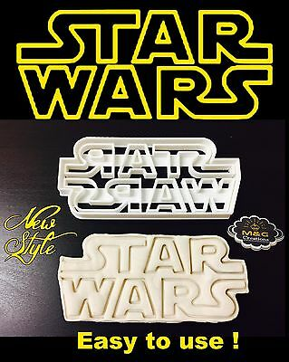 Medium Star Wars Logo Uk Seller Plastic Biscuit Cookie Cutter Fondant Cake Decor