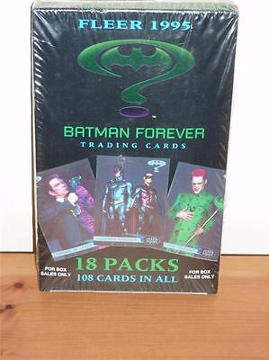 Batman Forever - Complete Box Sealed - Fleer 1995 - 18 Packs Trading Cards