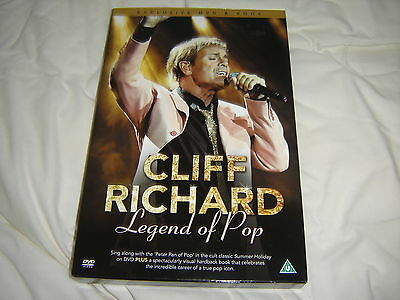 Cliff Richard Legend Of Pop Dvd And Book New
