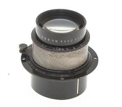 Carl Zeiss Jena fast 120/2.7 12cm F:2.7 old lens 1925c with iris diaphragm
