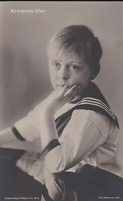 Royalty Crownprince Olav Of Norway Photocard