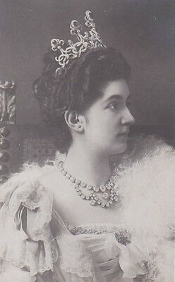 Royalty Queen Helene Of Italy With Tiara Photocard
