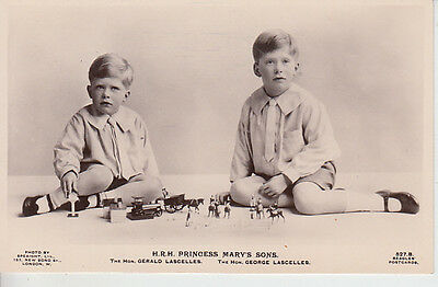 Royalty Gerald & George Lascelles Sons Princess Mary Photocard