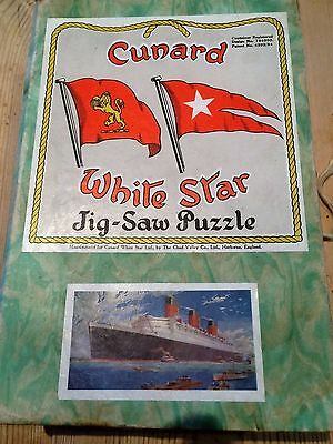 Cunard White Star jig-saw puzzle rms Queen Mary Chad Valley