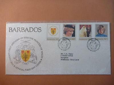 Barbados 21st Birthday Prince of Wales FDC 1982