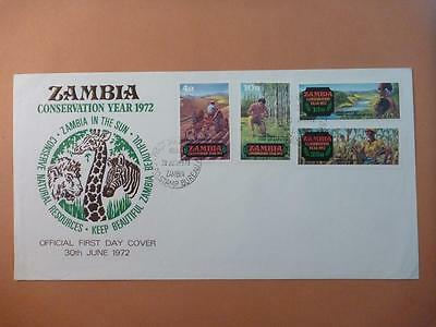 Zambia Conservation Year 1972 First Day Cover
