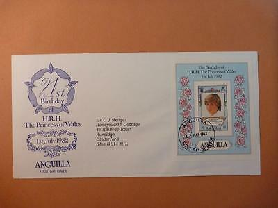 Anguilla Princess Diana 21st Birthday First Day Cover 1982
