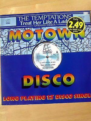 """The Temptations - Treat Her Like A Lady - 12"""" Motown Single - TMGT 1365"""