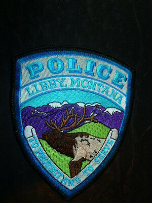 "Libby Montana MT Police Patch Patches To Protect And To Serve 4"" x 4.5"""