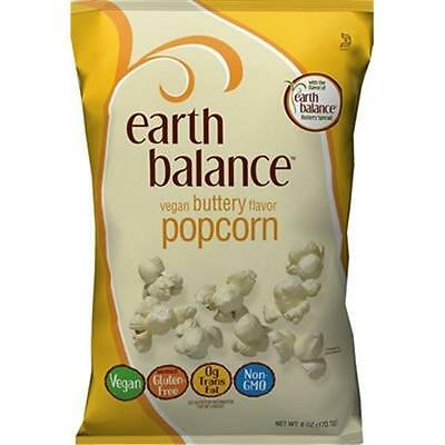 Earth Balance Vegan Buttery Flavor Original Popcorn 6 Ounce (Pack Of 12)