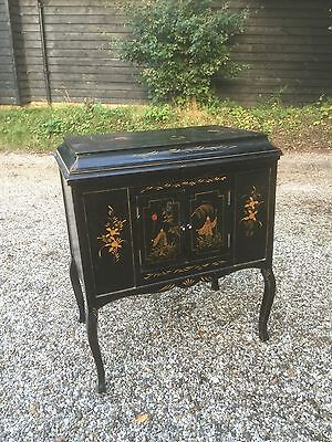 Stylish Looking Edwardian Japanned Cabinet. Open To Offers.