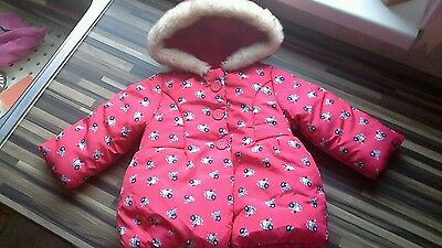 ��Baby Girls Chunky Winter Jacket / Coat 6-9 Months**immaculate**