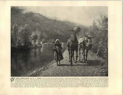 Henry, E. L.  ~ Old Artwork ~ On the Tow Path