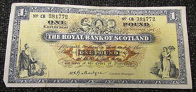 1964 + The Royal Bank of Scotland £1.00 Banknote