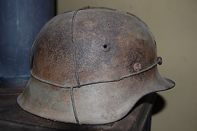 ww2 german m42 camo helmet