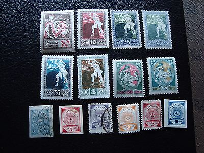 LETTONIE - 14 timbres n* ou obliteres (L1) stamp
