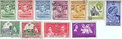 11 different older used stamps from Basutoland
