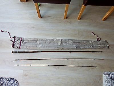 QUALITY 10ft approx VINTAGE CLOSE WHIPPED  SPLIT CANE FLY ROD