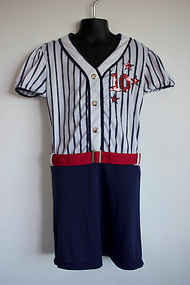 Old Fashioned Girls Baseball League Costume Dress Superstars #10 M l6