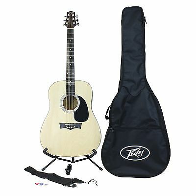 Peavey Acoustic Rockmaster Pack - Acoustic Guitar & Strap, Tuner, Bag and Picks