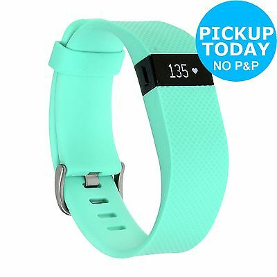 Fitbit Charge Heart Rate + Fitness Band Teal - Large. The Official Argos Store