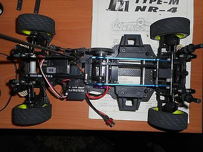 Radio controlled carbon graphite 10th scale car