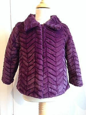 4yr PURPLE FAUX FUR JACKET/COAT by ME TOO - CLEARANCE PRICE - BRAND NEW