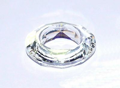 Large Cosmic Ring, Round Faceted Bead/Pendant, Crystal Glass, Clear AB