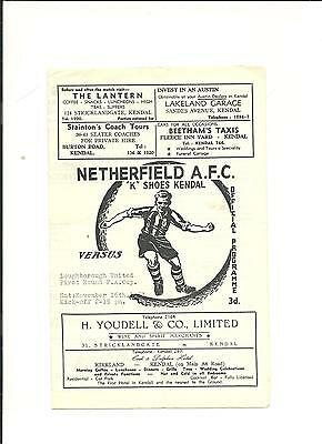 1963/64 FA Cup 1st round  Netherfield v Loughborough