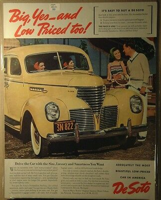 1939 Desoto Ad Big yes, and low price too