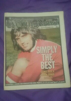 Newspaper Announcing George Best Death The Same Day( Extremely Rare)