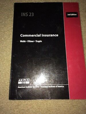 Commercial Insurance INS 23 3rd Edition