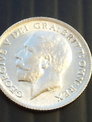 Uncirculated And Prooflike 1911 Silver Sixpence George V (United Kingdom)