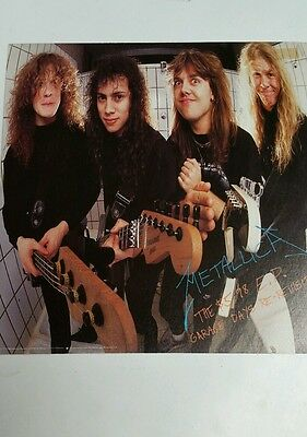 """METALLICA """"Garage Days Re-Revisited 5.98 EP 2-sided PROMO FLAT / Poster 12x12"""