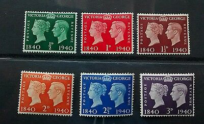gb mint stamps 1940 Centenary of First Adhesive Postage Stamps MINT UNMOUNTED