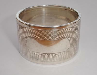 1938 Sterling Silver Napkin Ring - Blank Cartouche - 2.8cm high