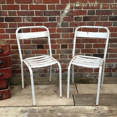 Industrial Vintage French Cafe Restaurant Bistro Tolix Garden Chairs