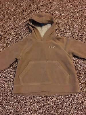Next Girls Brown Hoodie Age 2-3