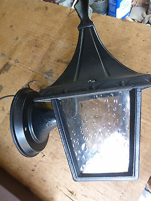 Vintage porch portico light tall roof spire black # 6