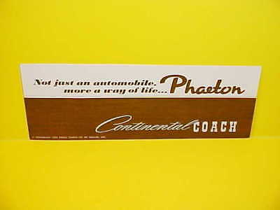 1973 Lincoln Continental Phaeton Coach Brochure Catalog