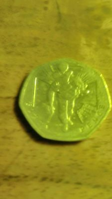 50p coin (wounded soldier)