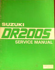 Suzuki owners service manual 1988 DR200S