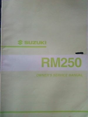 Suzuki owners service manual 2001 RM250