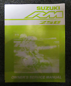 Suzuki owners service manual 2003 RM250