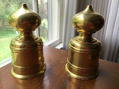 vintage brass Newell or post top finial