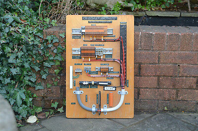 Vintage electrical display old salesmans  board CRITCHLEY  BROS - FREE POSTAGE